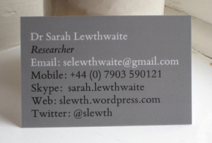 Less Is More business card